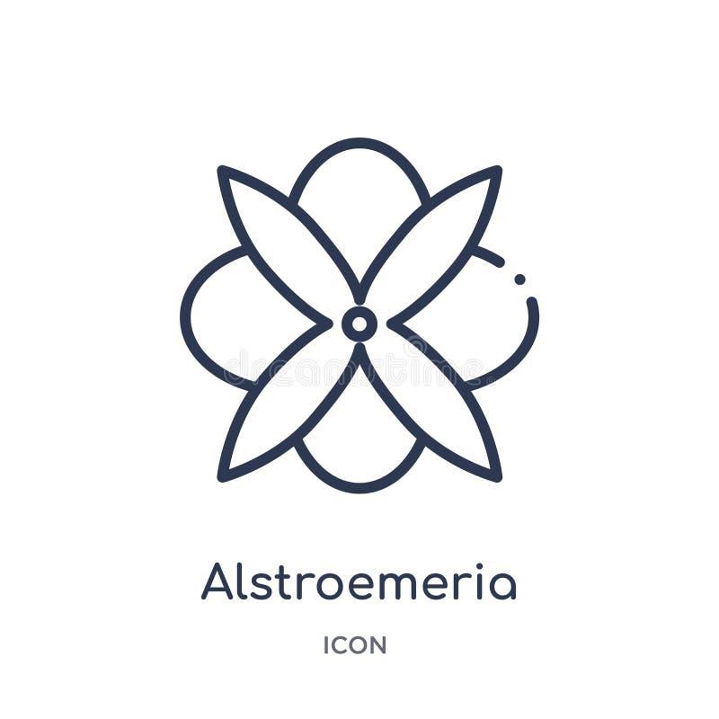 Εικονίδιο Alstroemeria από τη συλλογή περιλήψεων φύσης Λεπτό εικονίδιο alstroem ελεύθερη απεικόνιση δικαιώματος