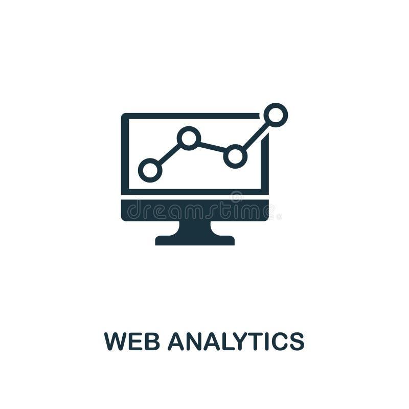 Εικονίδιο analytics Ιστού Σχέδιο ύφους ασφαλίστρου από τη συλλογή εικονιδίων διαφήμισης UI και UX Τέλειο εικονίδιο Analytics Ιστο διανυσματική απεικόνιση