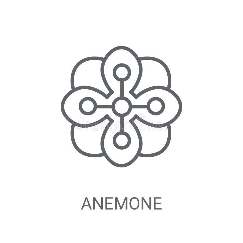 εικονίδιο anemone Καθιερώνουσα τη μόδα έννοια λογότυπων Anemone στο άσπρο υπόβαθρο FR ελεύθερη απεικόνιση δικαιώματος