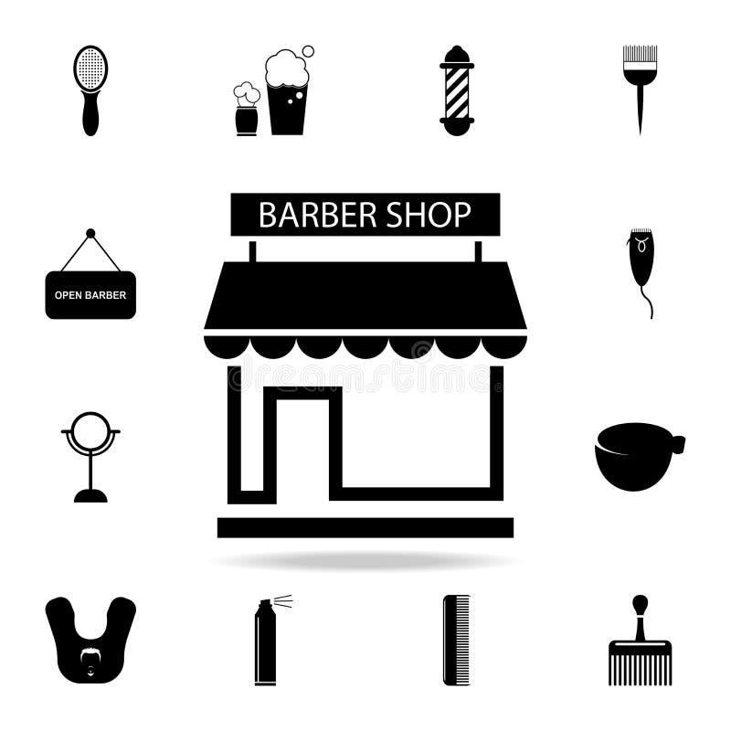 Εικονίδιο Barbershop Λεπτομερές σύνολο εργαλείων κουρέων Γραφικό σχέδιο ασφαλίστρου Ένα από τα εικονίδια συλλογής για τους ιστοχώ απεικόνιση αποθεμάτων