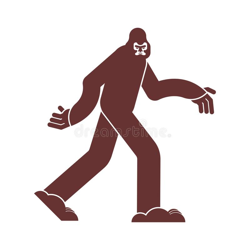 Εικονίδιο Bigfoot Σημάδι Yeti Αποτρόπαιο σύμβολο χιονανθρώπων sasquatch διανυσματική απεικόνιση