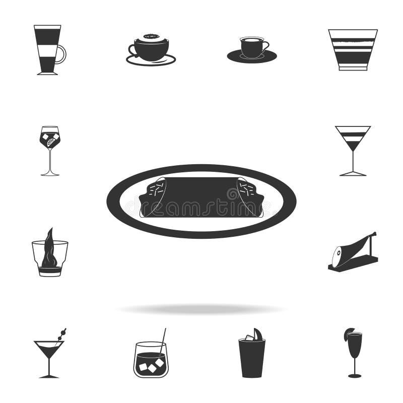εικονίδιο cannoli Λεπτομερές σύνολο ιταλικών απεικονίσεων τροφίμων Γραφικό εικονίδιο σχεδίου εξαιρετικής ποιότητας Ένα από τα εικ ελεύθερη απεικόνιση δικαιώματος