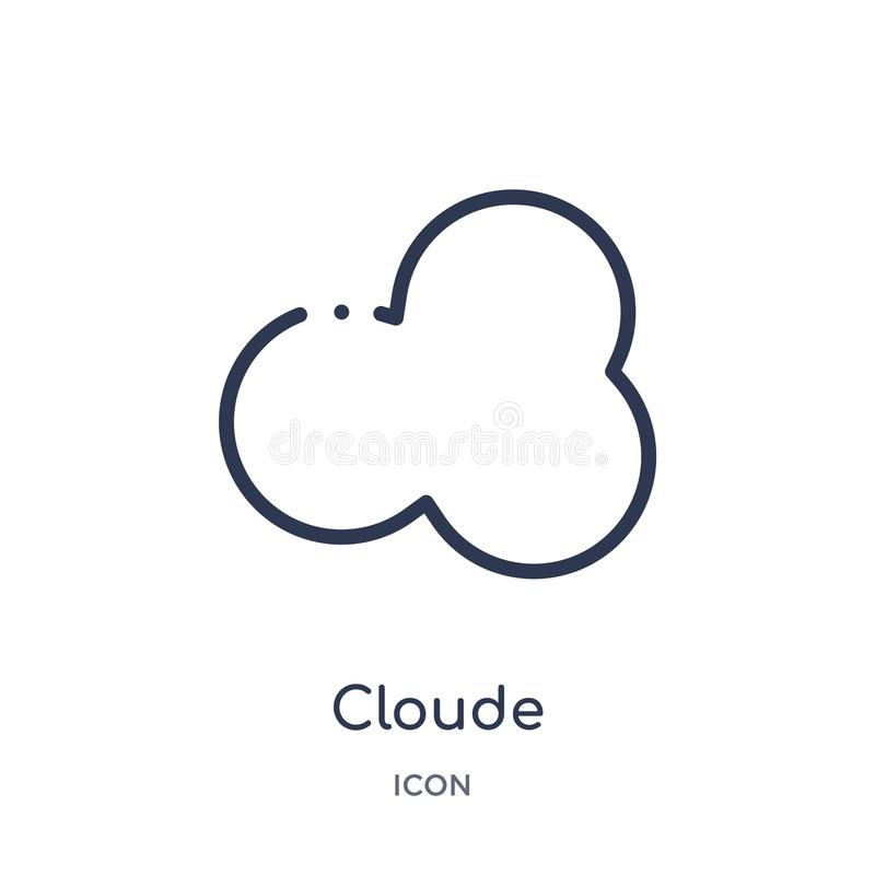 Εικονίδιο Cloude από τη συλλογή καιρικών περιλήψεων Λεπτό εικονίδιο γραμμών cloude που απομονώνεται στο άσπρο υπόβαθρο ελεύθερη απεικόνιση δικαιώματος
