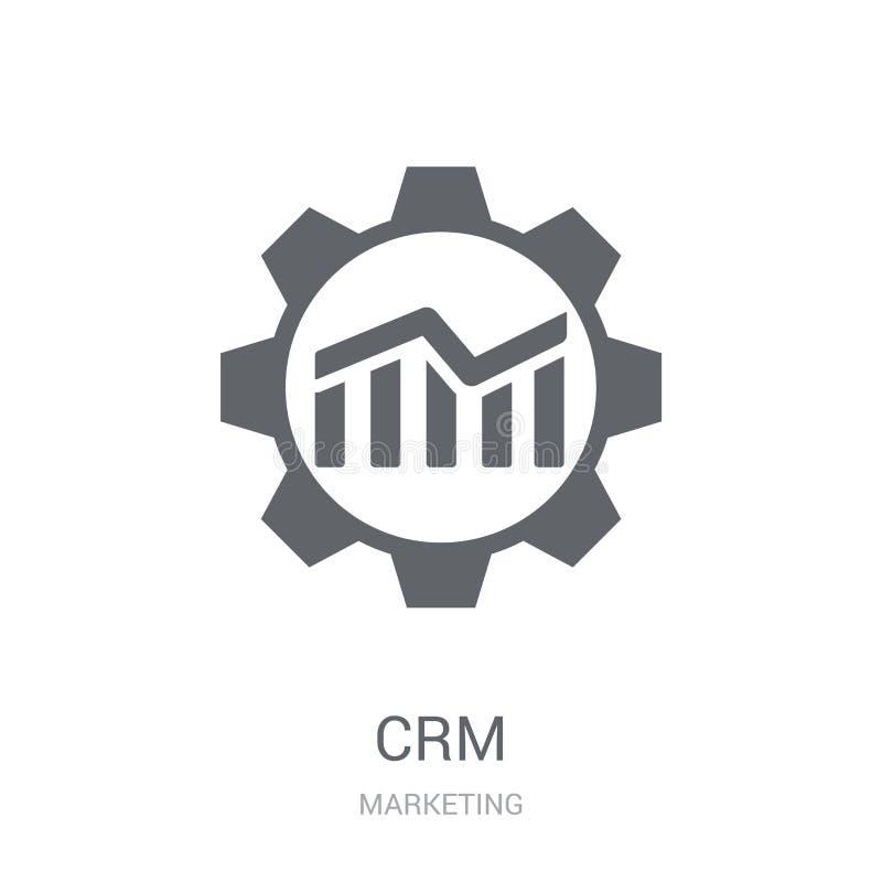 Εικονίδιο Crm  διανυσματική απεικόνιση