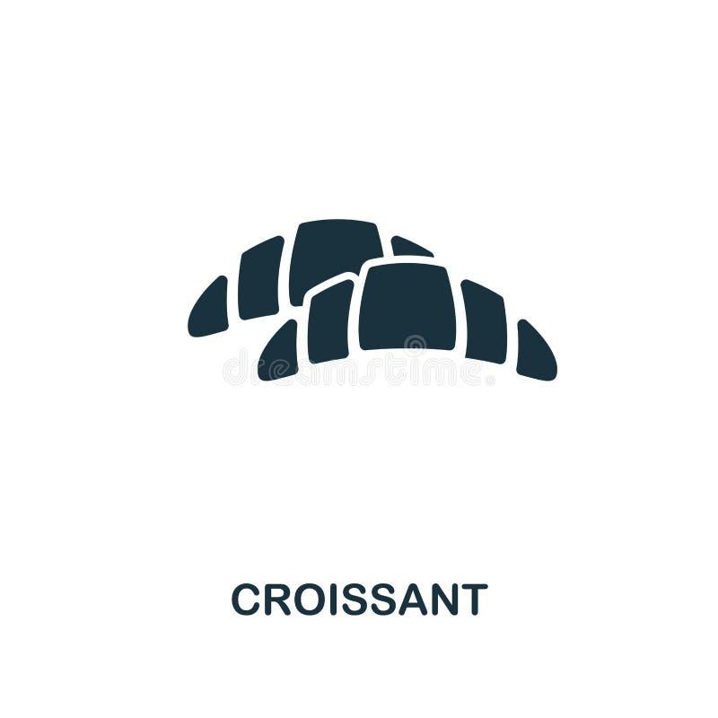 Εικονίδιο Croissant Σχέδιο ύφους ασφαλίστρου από τη συλλογή εικονιδίων καταστημάτων coffe UI και UX Τέλειο croissant εικονίδιο ει απεικόνιση αποθεμάτων