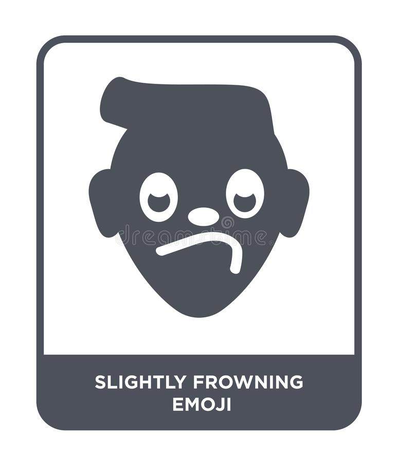 εικονίδιο emoji ελαφρώς συνοφρυώματος στο καθιερώνον τη μόδα ύφος σχεδίου εικονίδιο emoji ελαφρώς συνοφρυώματος που απομονώνεται  ελεύθερη απεικόνιση δικαιώματος