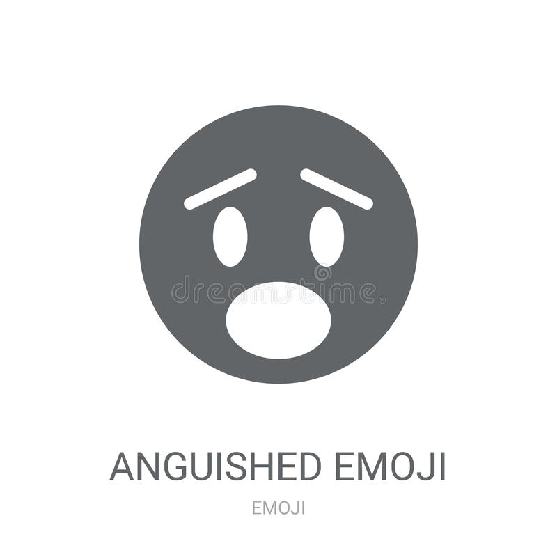 Εικονίδιο emoji Anguished  απεικόνιση αποθεμάτων