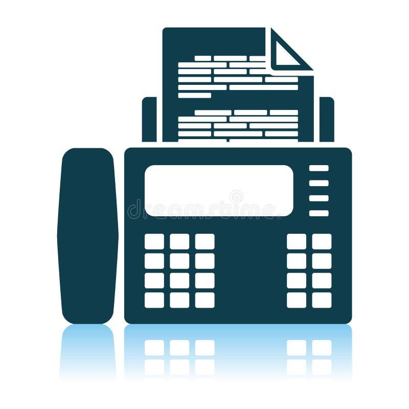 Εικονίδιο fax ελεύθερη απεικόνιση δικαιώματος