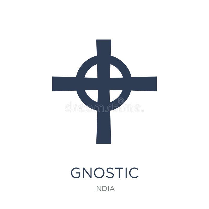 Εικονίδιο Gnostic Καθιερώνον τη μόδα επίπεδο διανυσματικό εικονίδιο Gnostic στο άσπρο backgroun διανυσματική απεικόνιση