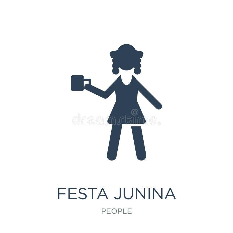 εικονίδιο junina festa στο καθιερώνον τη μόδα ύφος σχεδίου εικονίδιο junina festa που απομονώνεται στο άσπρο υπόβαθρο διανυσματικ απεικόνιση αποθεμάτων