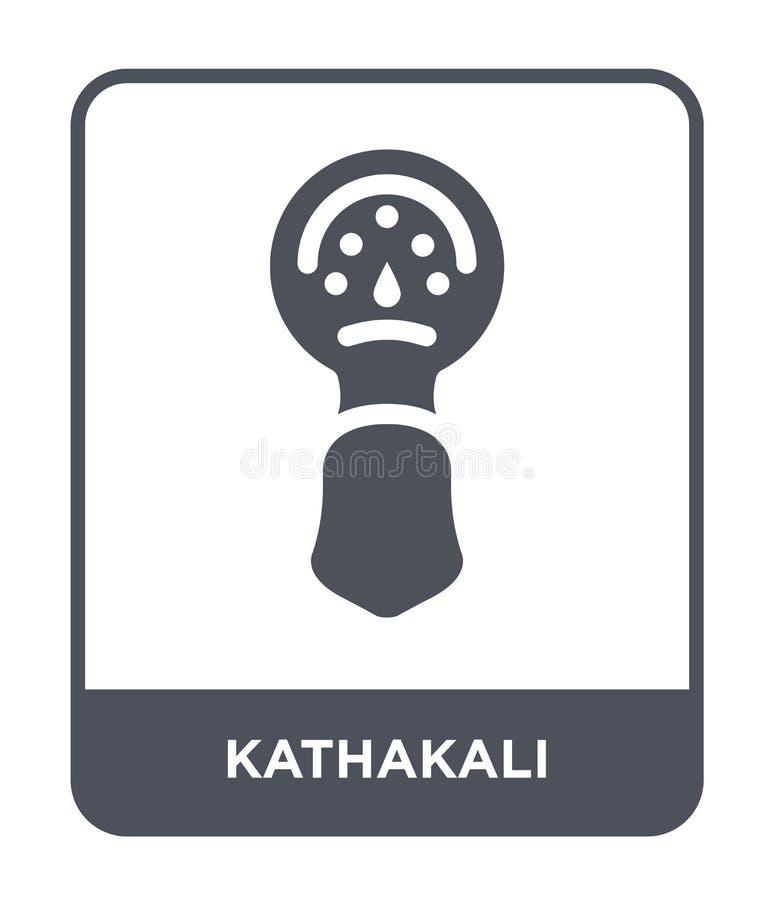 εικονίδιο kathakali στο καθιερώνον τη μόδα ύφος σχεδίου εικονίδιο kathakali που απομονώνεται στο άσπρο υπόβαθρο απλό και σύγχρονο διανυσματική απεικόνιση