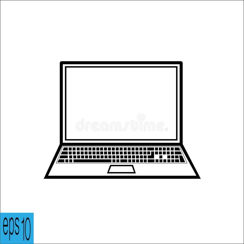 Εικονίδιο lap-top διανυσματική απεικόνιση