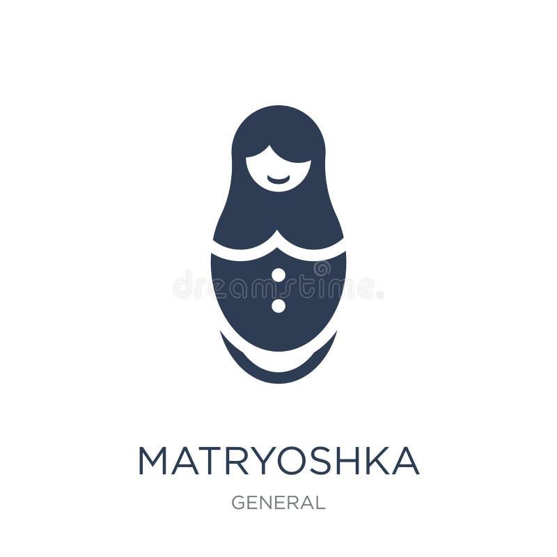 Εικονίδιο Matryoshka  διανυσματική απεικόνιση