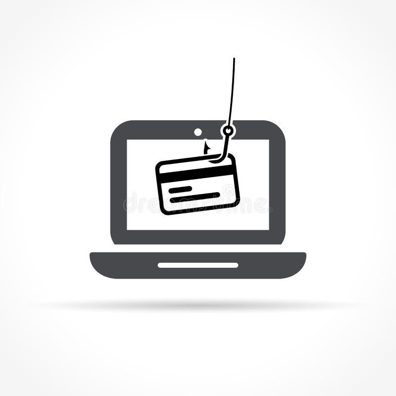 Εικονίδιο Phishing στο άσπρο υπόβαθρο απεικόνιση αποθεμάτων