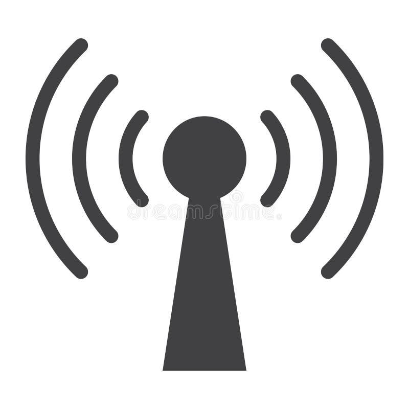 Εικονίδιο Podcast glyph, Ιστός και κινητός, επικοινωνία διανυσματική απεικόνιση