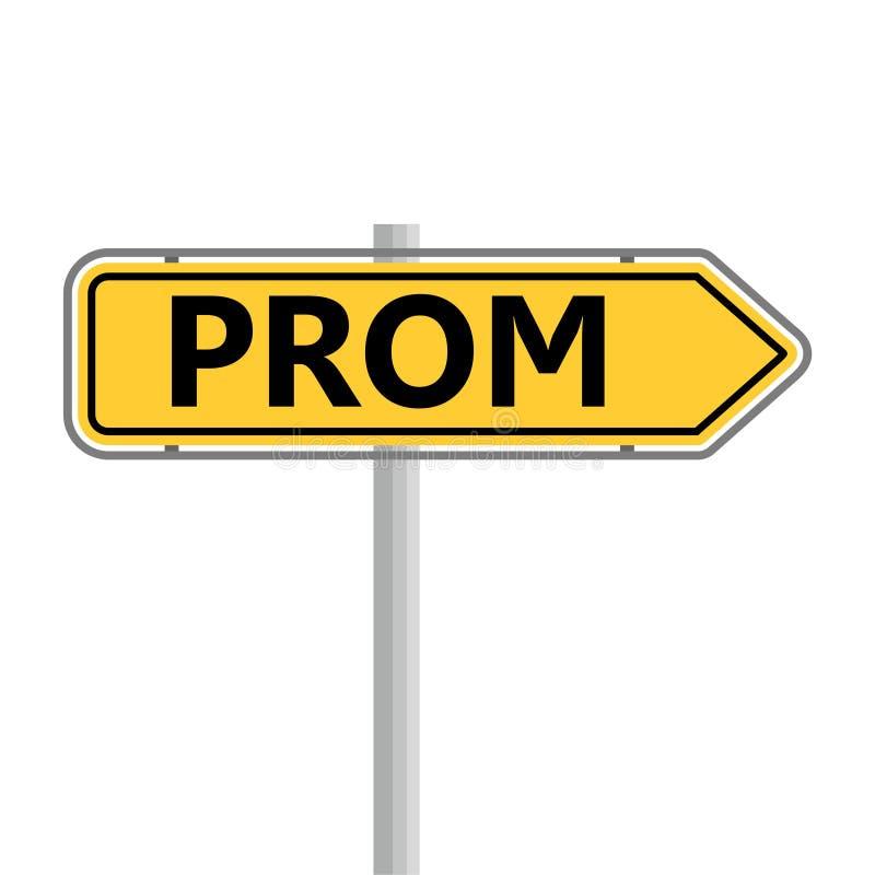 Εικονίδιο Prom, οδικό σημάδι διανυσματική απεικόνιση