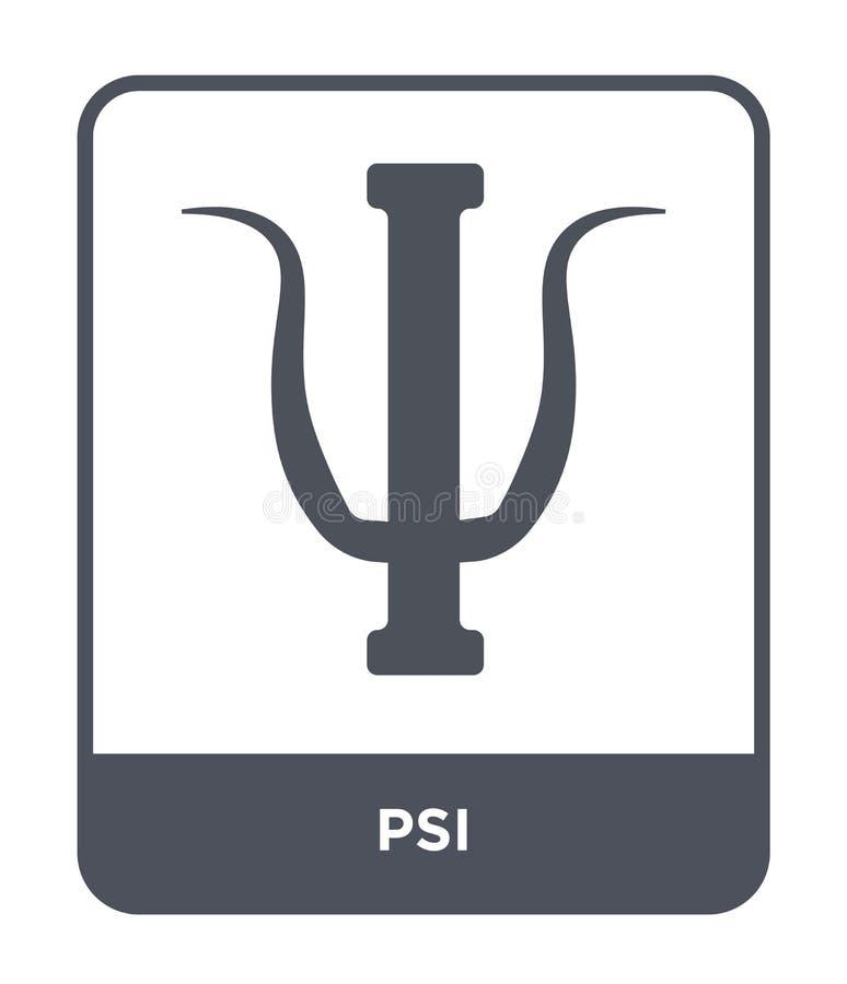 εικονίδιο PSI στο καθιερώνον τη μόδα ύφος σχεδίου εικονίδιο PSI που απομονώνεται στο άσπρο υπόβαθρο απλό και σύγχρονο επίπεδο σύμ ελεύθερη απεικόνιση δικαιώματος