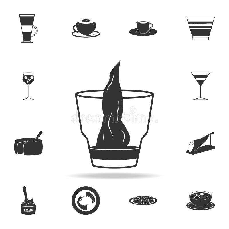 εικονίδιο sambuca Λεπτομερές σύνολο ιταλικών απεικονίσεων τροφίμων Γραφικό εικονίδιο σχεδίου εξαιρετικής ποιότητας Ένα από τα εικ απεικόνιση αποθεμάτων