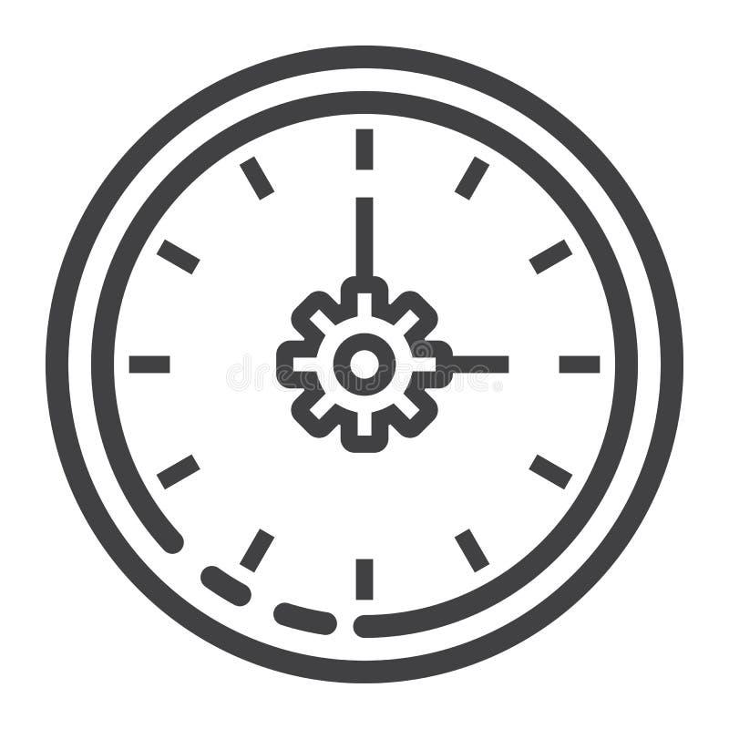 Εικονίδιο, seo και ανάπτυξη γραμμών χρονικής διαχείρισης διανυσματική απεικόνιση