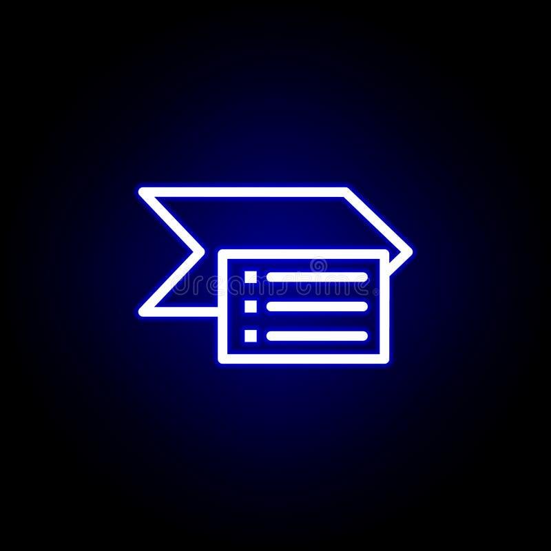 Εικονίδιο Smartart στο ύφος νέου r απεικόνιση αποθεμάτων