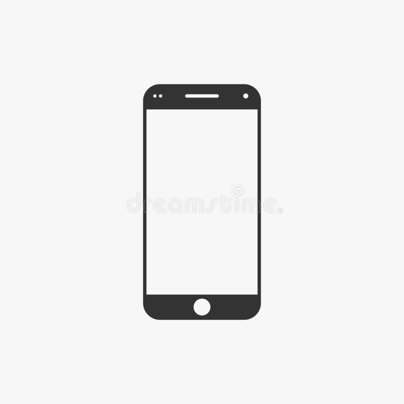 Εικονίδιο Smartphone, κινητό, τηλέφωνο, επαφή ελεύθερη απεικόνιση δικαιώματος
