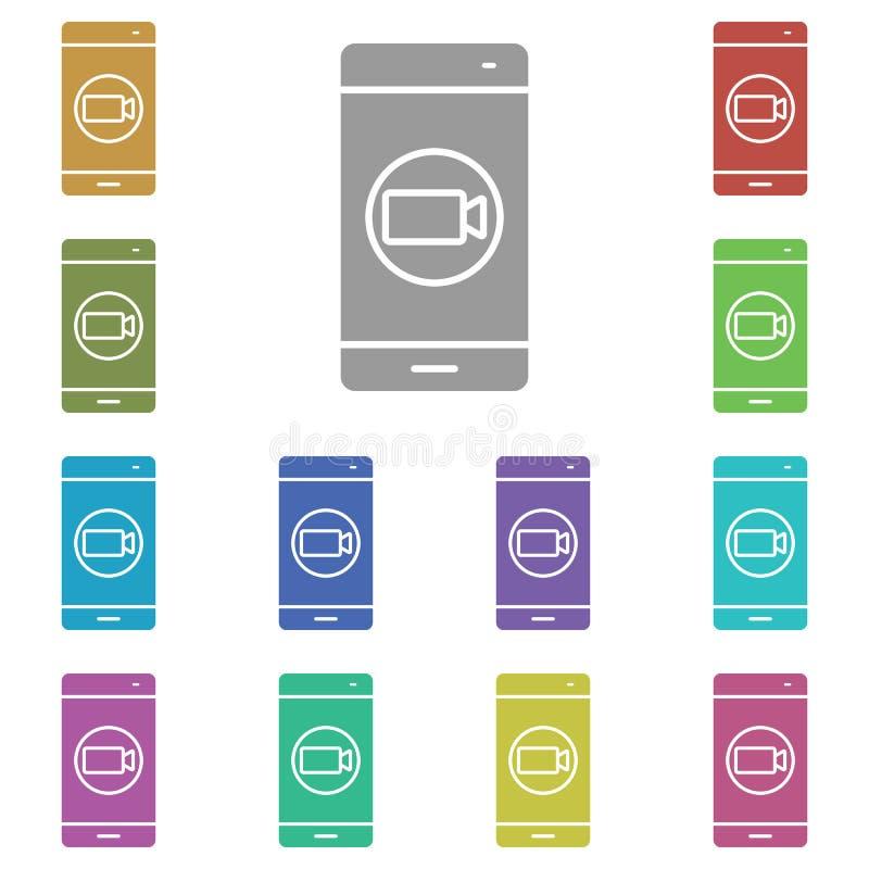 Εικονίδιο smartphone, phone, βίντεο, camera multi Απλό γλύφο, επίπεδο διάνυσμα εικονιδίων smartphone για ui και ux, τοποθεσία web απεικόνιση αποθεμάτων