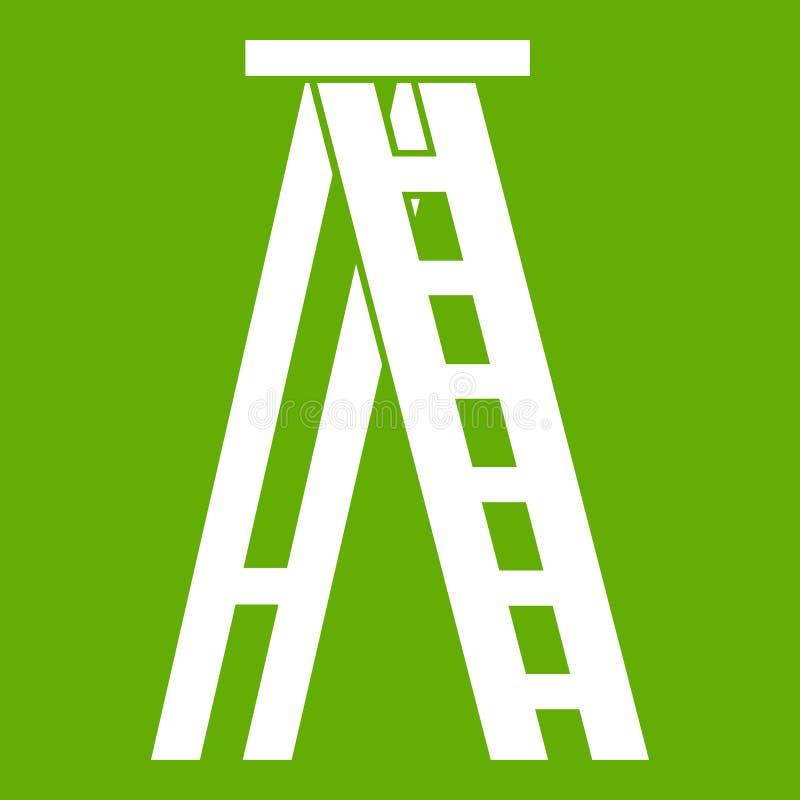 Εικονίδιο Stepladder πράσινο απεικόνιση αποθεμάτων