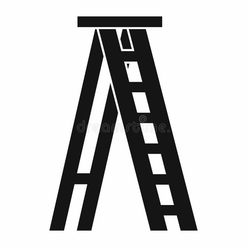 Εικονίδιο Stepladder στο απλό ύφος ελεύθερη απεικόνιση δικαιώματος