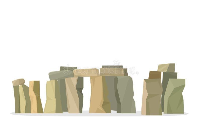 Εικονίδιο Stonehenge που απομονώνεται στο άσπρο υπόβαθρο ελεύθερη απεικόνιση δικαιώματος