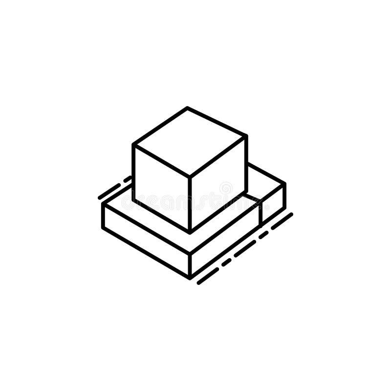 Εικονίδιο Tefillin Στοιχείο του εβραϊκού εικονιδίου για την κινητούς έννοια και τον Ιστό apps Το λεπτό εικονίδιο Tefillin γραμμών απεικόνιση αποθεμάτων