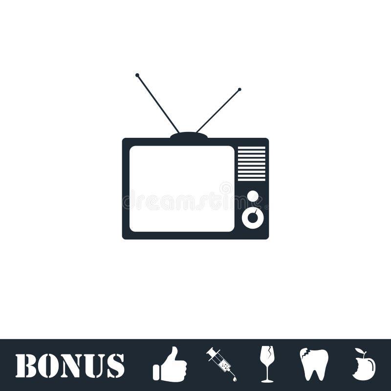 Εικονίδιο TV επίπεδο απεικόνιση αποθεμάτων