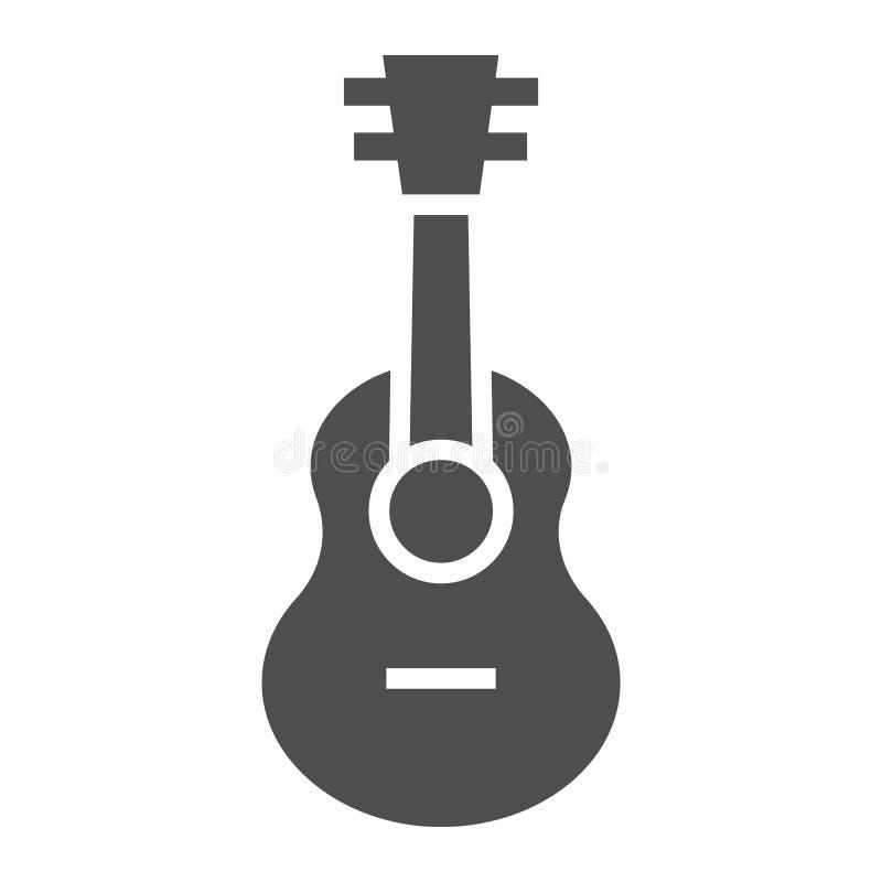 Εικονίδιο Ukulele glyph, μουσική και σειρά, σημάδι κιθάρων, διανυσματική γραφική παράσταση, ένα στερεό σχέδιο σε ένα άσπρο υπόβαθ διανυσματική απεικόνιση