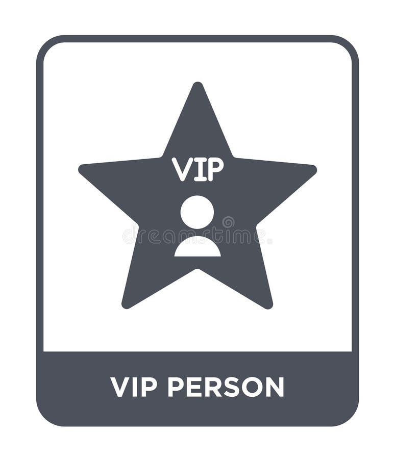 εικονίδιο VIP προσώπων στο καθιερώνον τη μόδα ύφος σχεδίου εικονίδιο VIP προσώπων που απομονώνεται στο άσπρο υπόβαθρο διανυσματικ απεικόνιση αποθεμάτων