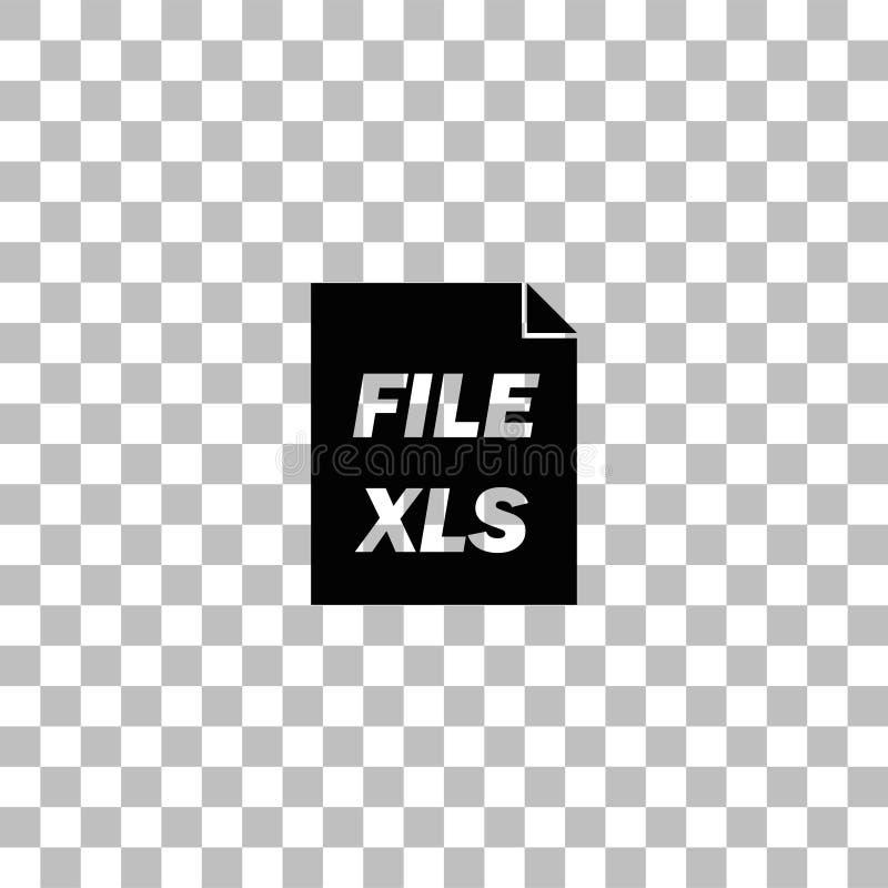 Εικονίδιο XLS επίπεδο διανυσματική απεικόνιση