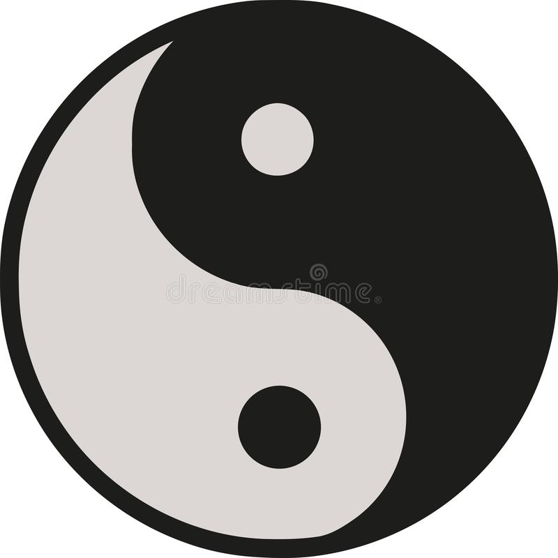 εικονίδιο yang ying απεικόνιση αποθεμάτων