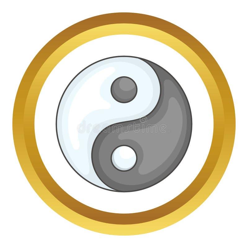 εικονίδιο yang ying διανυσματική απεικόνιση