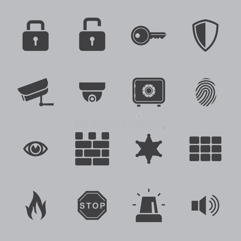 Εικονίδια ασφάλειας απεικόνιση αποθεμάτων