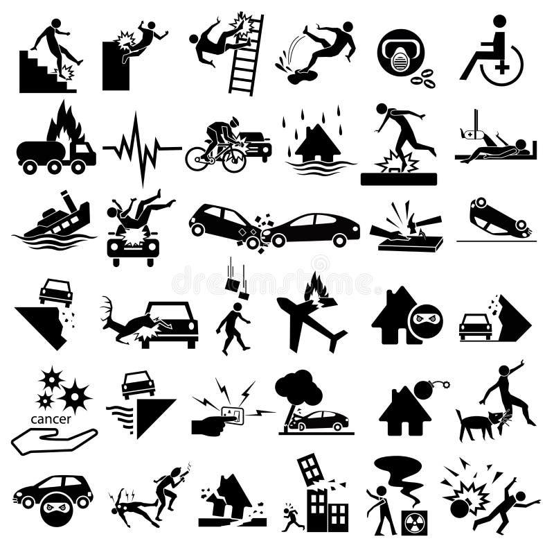 Εικονίδια ατυχήματος καθορισμένα