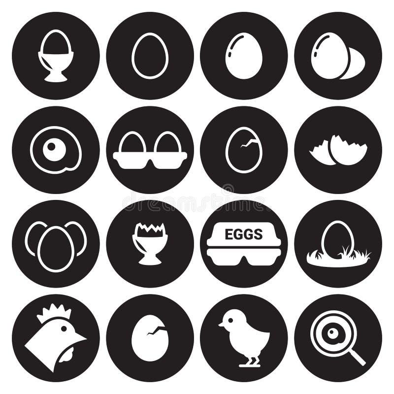 Εικονίδια αυγών καθορισμένα διανυσματική απεικόνιση