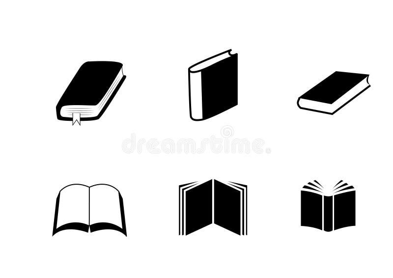Εικονίδια βιβλίων ελεύθερη απεικόνιση δικαιώματος