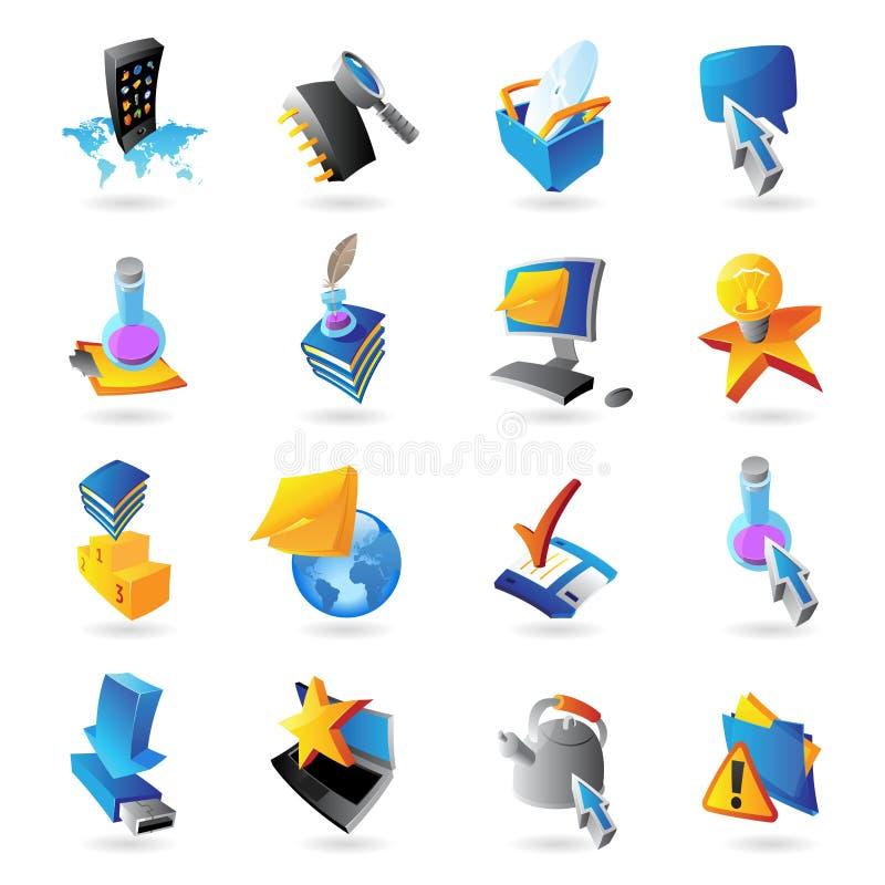 Εικονίδια για την τεχνολογία διανυσματική απεικόνιση