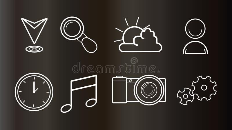 Εικονίδια για τον Ιστό και το κινητό σχέδιο στοκ εικόνα