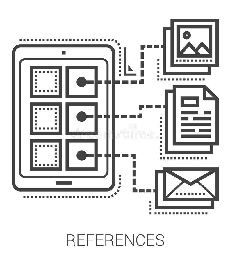 Εικονίδια γραμμών αναφορών ελεύθερη απεικόνιση δικαιώματος