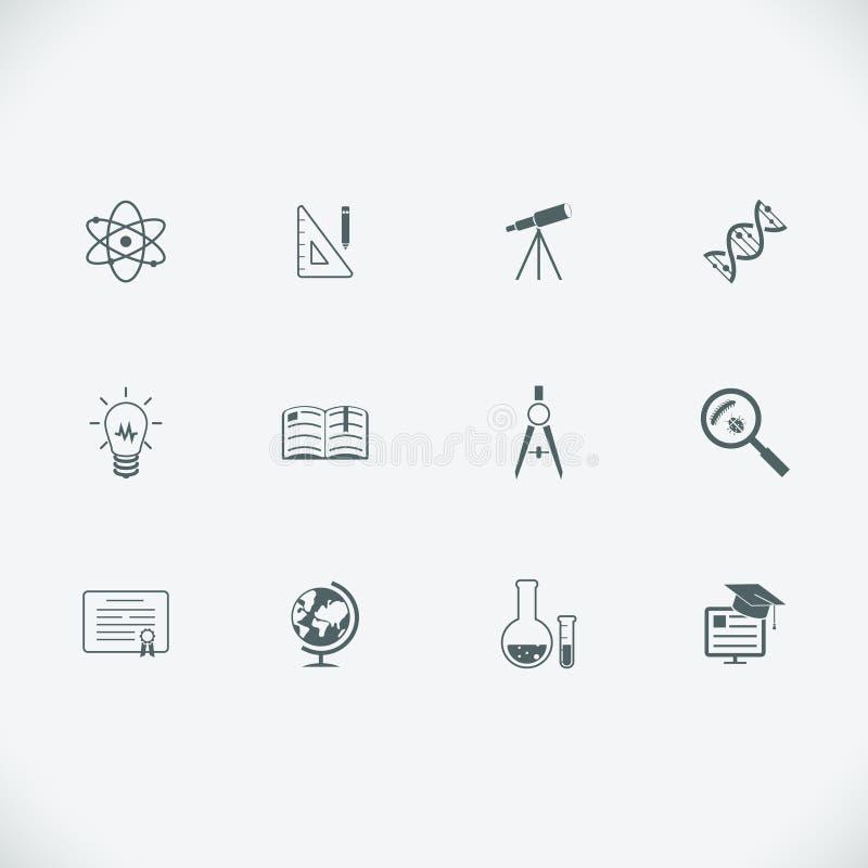 Εικονίδια γραμμών εκπαίδευσης και εκμάθησης σύγχρονα διανυσματική απεικόνιση