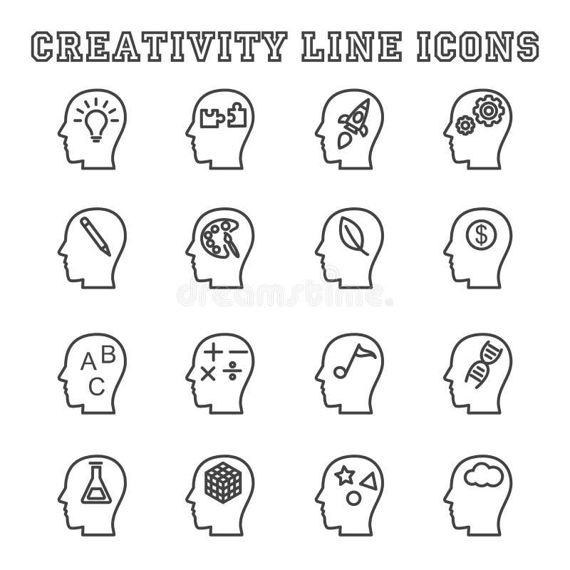 Εικονίδια γραμμών δημιουργικότητας ελεύθερη απεικόνιση δικαιώματος