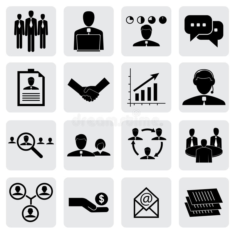 Εικονίδια γραφείων (σημάδια) των ανθρώπων & των εννοιών για την επιχείρηση γραφική απεικόνιση αποθεμάτων