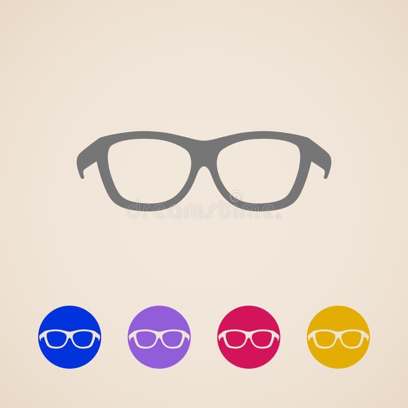 Εικονίδια γυαλιών απεικόνιση αποθεμάτων