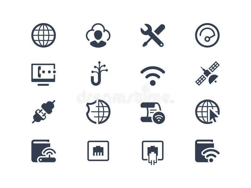 Εικονίδια Διαδικτύου και προμηθευτών διανυσματική απεικόνιση