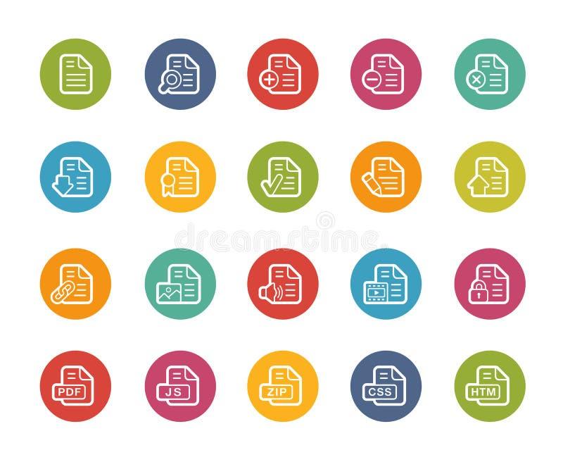 Εικονίδια εγγράφων - 1 2 -- Σειρά Printemps απεικόνιση αποθεμάτων