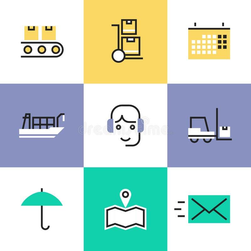 Εικονίδια εικονογραμμάτων υπηρεσιών βιομηχανίας διοικητικών μεριμνών καθορισμένα ελεύθερη απεικόνιση δικαιώματος